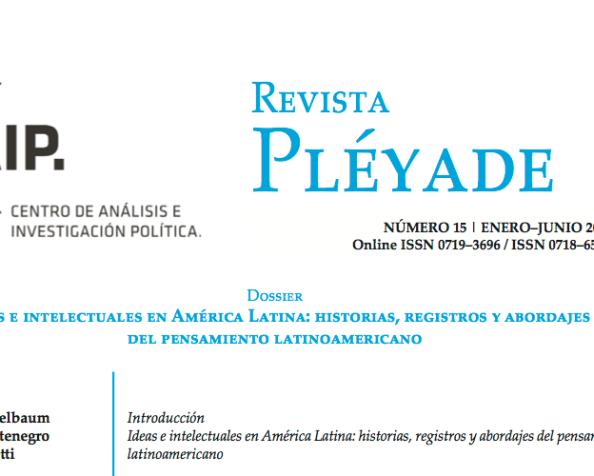 Nuevo número de Revista Pléyade sobre pensamientolatinoamericano