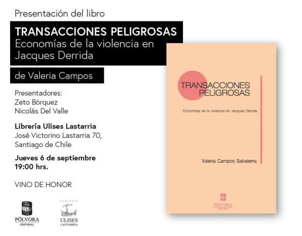 lanzamiento libro Transacciones Peligrosas